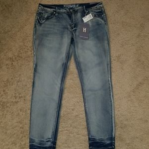 Hydraulic stretch skinny jeans